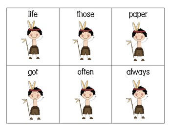2nd Grade High Frequency Word Thanksgiving Themed Card Activity