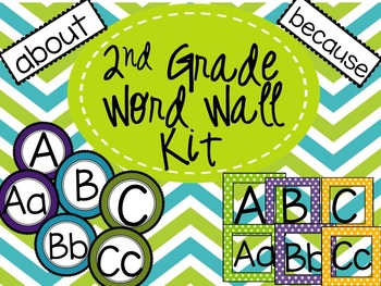2nd Grade High Frequency Word Wall