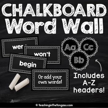 Chalkboard Word Wall EDITABLE