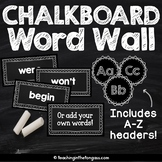 Chalkboard Word Wall EDITABLE | Word Wall Letters and Words