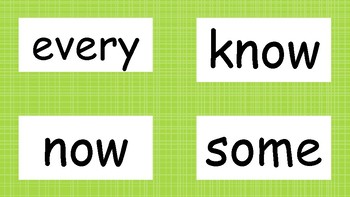 2nd Grade High Frequency Word Wall Words - Lime Green
