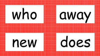 2nd Grade High Frequency Word Wall Words - Red
