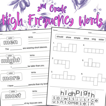 2nd Grade High Frequency Words