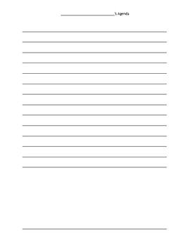 2nd Grade Homework Form