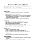 2nd Grade Homework Policy