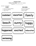 2nd Grade End of the Year Fun Spelling Words Packet
