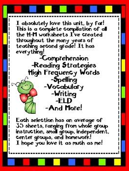 2nd Grade Houghton Mifflin Lectura-Theme 1 - Selection 1 Freebie