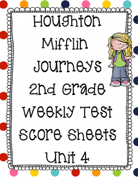 2nd Grade Houghton Mifflin Scoresheets Unit 4