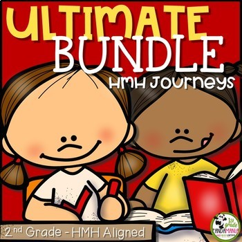 2nd Grade ULTIMATE Bundle Aligned with HMH Journeys 2011, 2014 and 2017