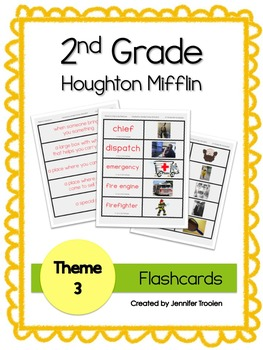 2nd Grade Theme 3 Houghton Mifflin Vocab Flashcards