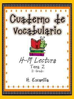 2nd Grade Houghton Mifflin Vocab Journal - Theme 2 in Spanish
