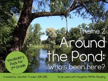 2nd Grade Houghton Mifflin Vocab Pack for Theme 2: Around the Pond