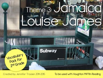 2nd Grade Houghton Mifflin Vocab Pack for Theme 3: Jamaica Louise James