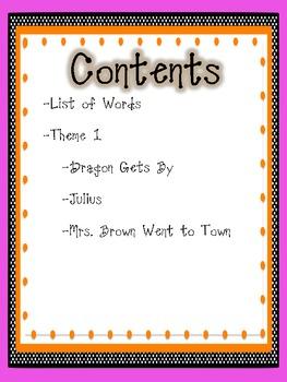 2nd Grade Houghton Mifflin Vocabulary Journal - Theme 1
