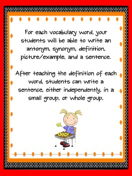 2nd Grade Houghton Mifflin Vocabulary Journal - Theme 1 in Spanish