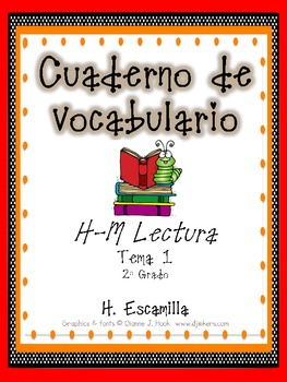 2nd Grade Houghton Mifflin Vocabulary Journal - Theme 1 in