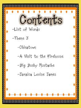 2nd Grade Houghton Mifflin Vocabulary Journal - Theme 3