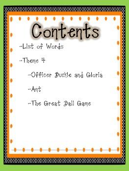 2nd Grade Houghton Mifflin Vocabulary Journal - Theme 4