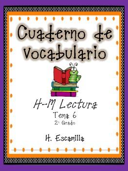 2nd Grade Houghton Mifflin Vocabulary Journal - Theme 6 in Spanish