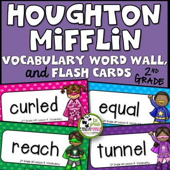 2nd Grade Houghton Mifflin Journeys Vocabulary Superhero W