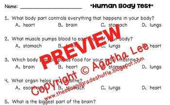 2nd Grade Human Body Reading Comprehension Pack