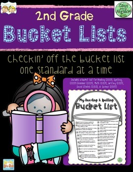 2nd Grade I Can Bucket Lists