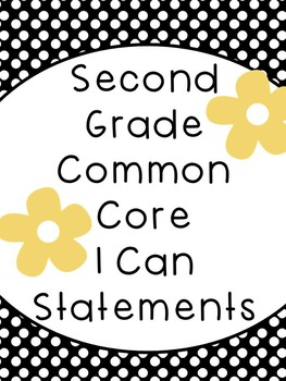 2nd Grade I Can Statements