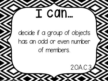 "2nd Grade ""I Can"" Statements Bundle: All Standards - Black & White"