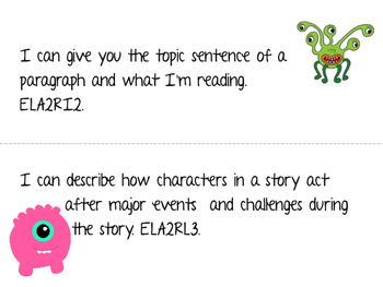 2nd Grade I Can Statements- Monster Themed (All Subjects)
