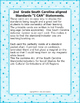 """2nd Grade """"I Can Statements"""" SC SS Standards Cultural Cont"""