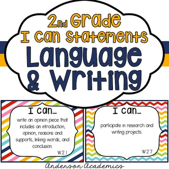 "2nd Grade ""I Can"" Statements: Writing, Speaking & Listenin"