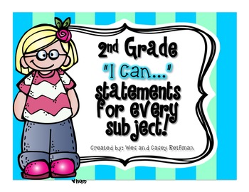 "2nd Grade ""I Can"" Statements for All Subjects - CCSS & Revised Standards"