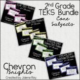 "2nd Grade ""I Can"" TEKS Statement Poster Bundle: Chevron Brights"