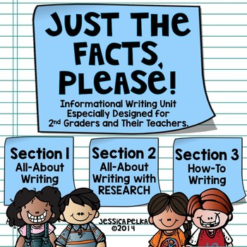 2nd Grade INFORMATIVE Writing Unit - All About, Research, and How-To Writing