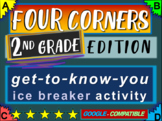 "2nd Grade Ice Breaker - ""FOUR CORNERS"" get-to-know-you game"