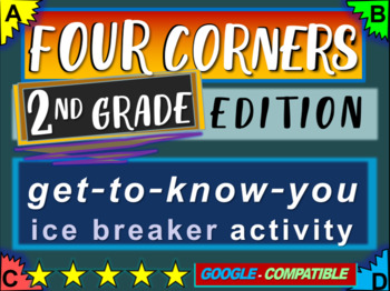 """2nd Grade Ice Breaker - """"FOUR CORNERS"""" get-to-know-you game"""
