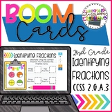 2nd Grade Identifying Fractions Boom Cards Distance Learning
