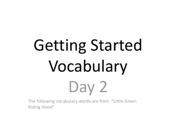 2nd Grade Imagine It! Getting Started Vocabulary Cards