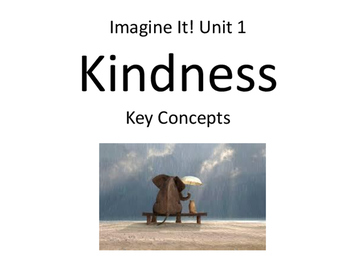 2nd Grade Imagine It Unit 1 Kindness Concept Cards