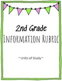 2nd Grade Information Writing Rubric