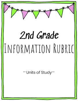 2nd Grade Information Writing Rubric