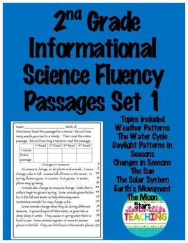 Fluency Passages 2nd Grade Informational Science Set 1- Weather, Solar System