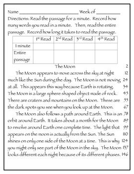 Fluency Passages 2nd Grade Informational Science Set 1- Weather ...