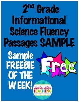 Fluency Passages 2nd Grade Informational Science Set 1 SAMPLE FREEBIE