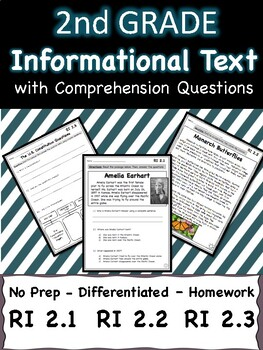 Informational Text Nonfiction Reading Passages - Differentiated - Homework