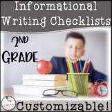 2nd Grade Informational Writing Checklist~ EDITABLE