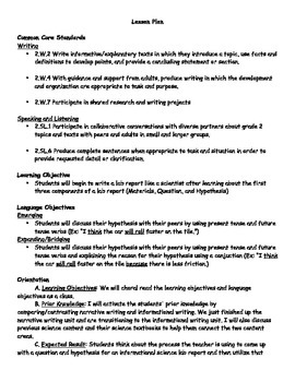 2nd Grade Informational Writing Lesson Plan Aligned to Lucy Calkins