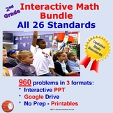 2nd Grade Interactive Math Bundle – Covering All 26 Common