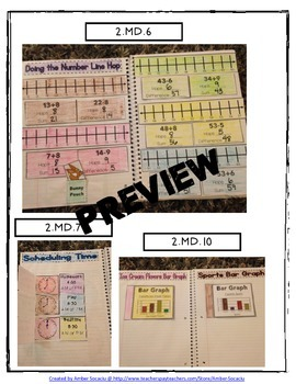 2nd Grade Interactive Math Journal for Measurement and Data