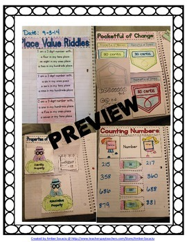 2nd Grade Interactive Math Journal for Numbers and Operations in Base Ten